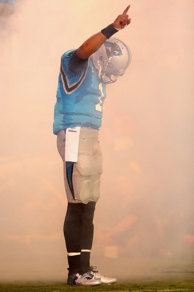Cam Newton #1 of the Carolina Panthers makes his entrance against the Pittsburgh Steelers during the game at Bank of America Stadium on September 21, 2014 in Charlotte, North Carolina.