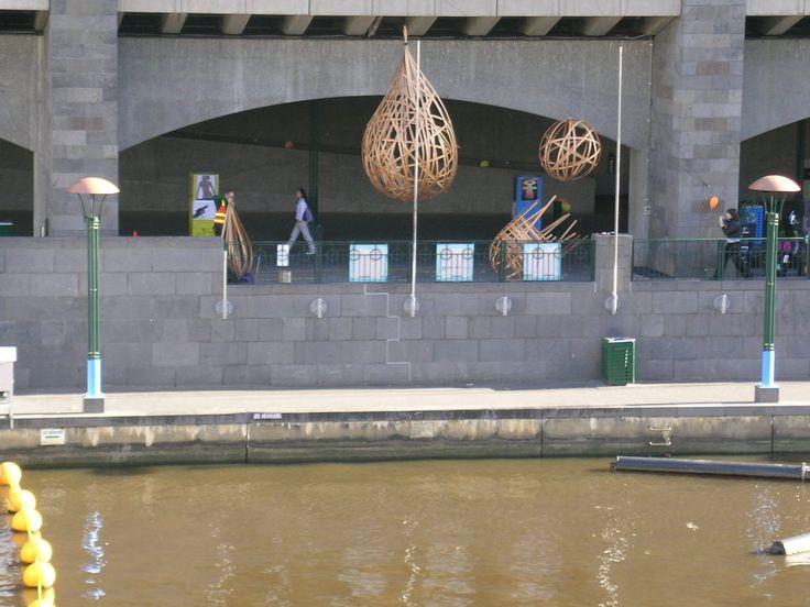Woven Slat sculptures Public workshop with Ceri Hann Part of Intentcity. Photo Paul Irving