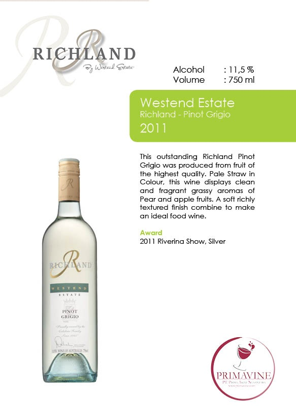 Westend Estate - Richland Pinot Grigio