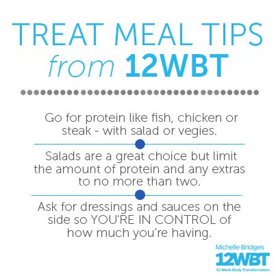 Who loves a weekend treat meal? Here are my top tips for doing it the 12WBT way! #12WBT Xx