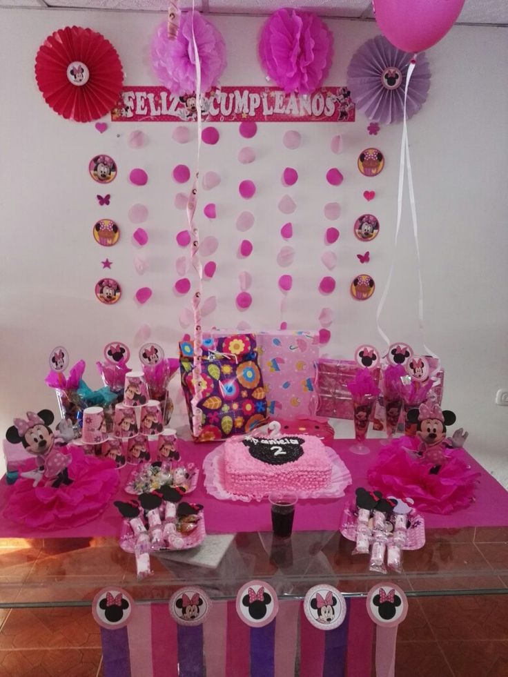 Cumpleaños temático de Minnie Mouse