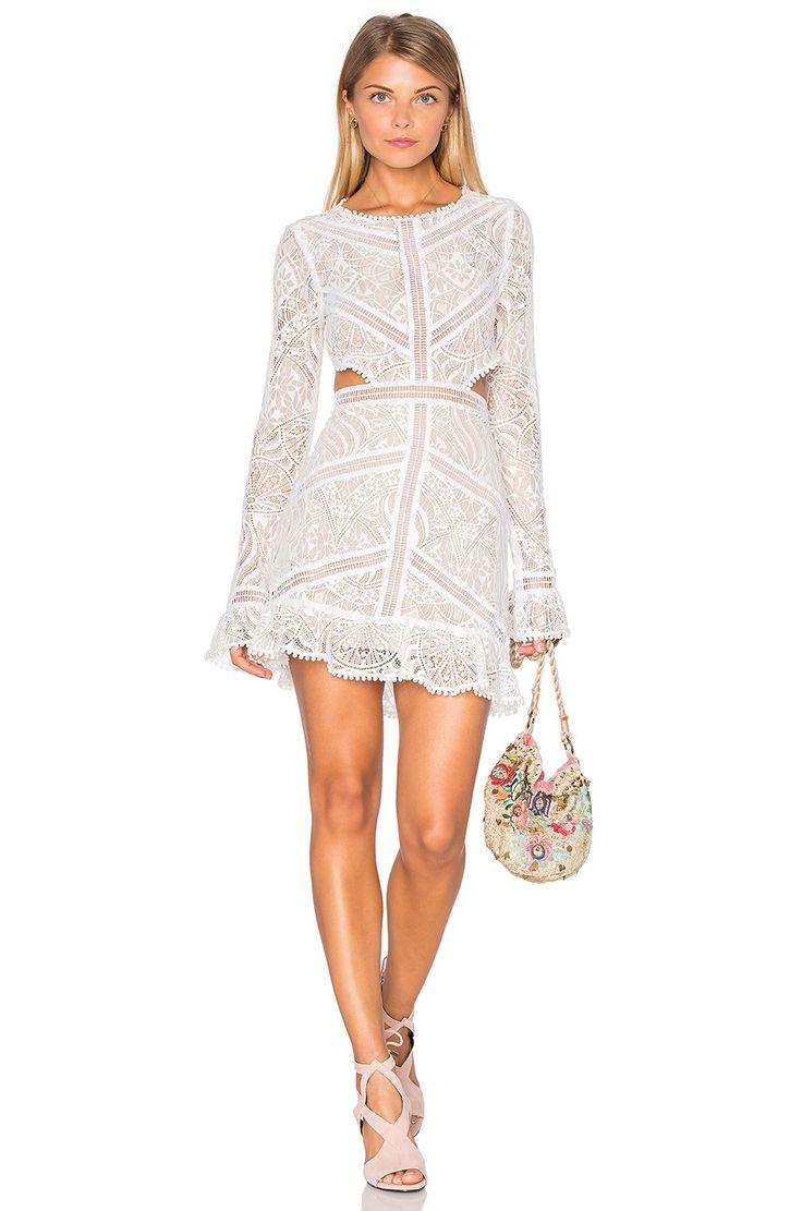 For Love & Lemons Emerie Cut Out Dress in White | REVOLVE