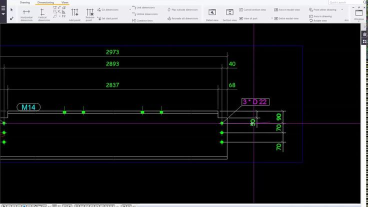 Tekla Structures 2016_Drawing_Mark and Dimension