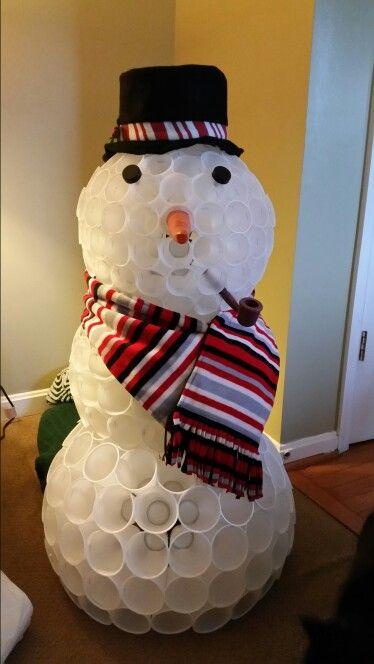 Best 25 plastic cup snowman ideas on pinterest for Plastic cup snowman