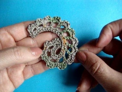 How to Crochet Irish lace leaf ✭Teresa Restegui http://www.pinterest.com/teretegui/ ✭