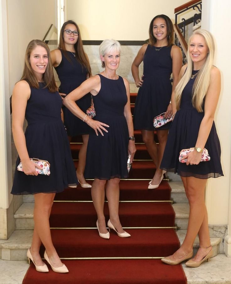 Looking lovely ladies! MT@BritishTennis Our official GB #FedCup team photo - looking gorgeous thanks to @ted_baker.