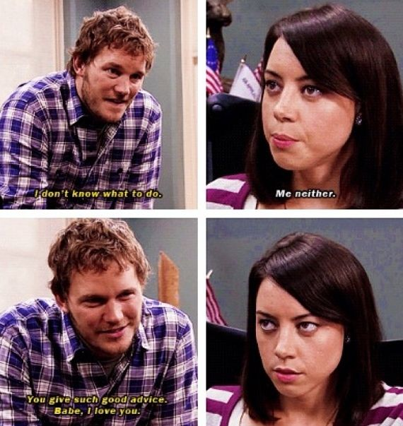 parks and rec, parks and recreation, NBC, comedy, humour, lol, funny, aubrey plaza, april ludgate, chris pratt, andy dwyer