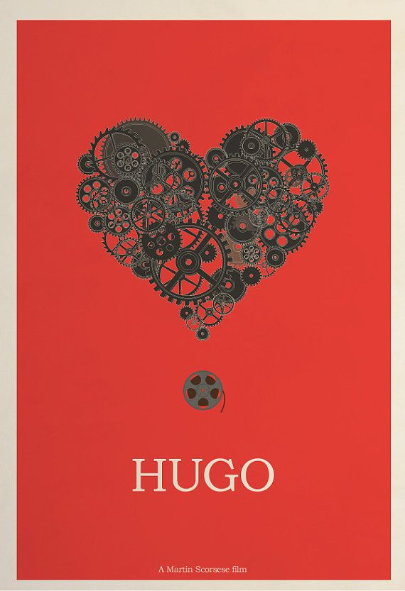 Hugo poster  2012 Best Picture Nominee Poster Series by Hunter Langston