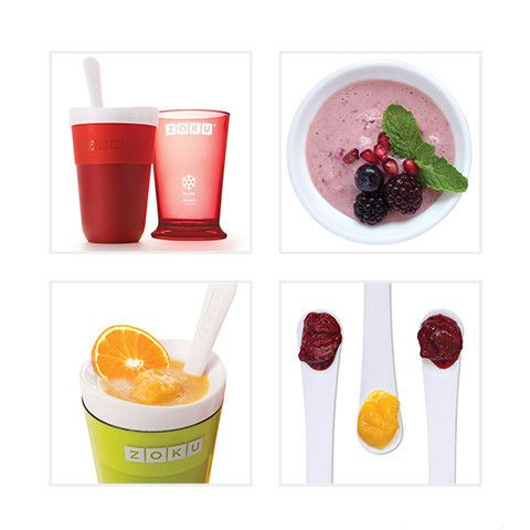 Make Slushies Fast! (and milkshakes too) with the Zoku Slush & Shake Maker! Soooo cool! Now I'm thirsty...