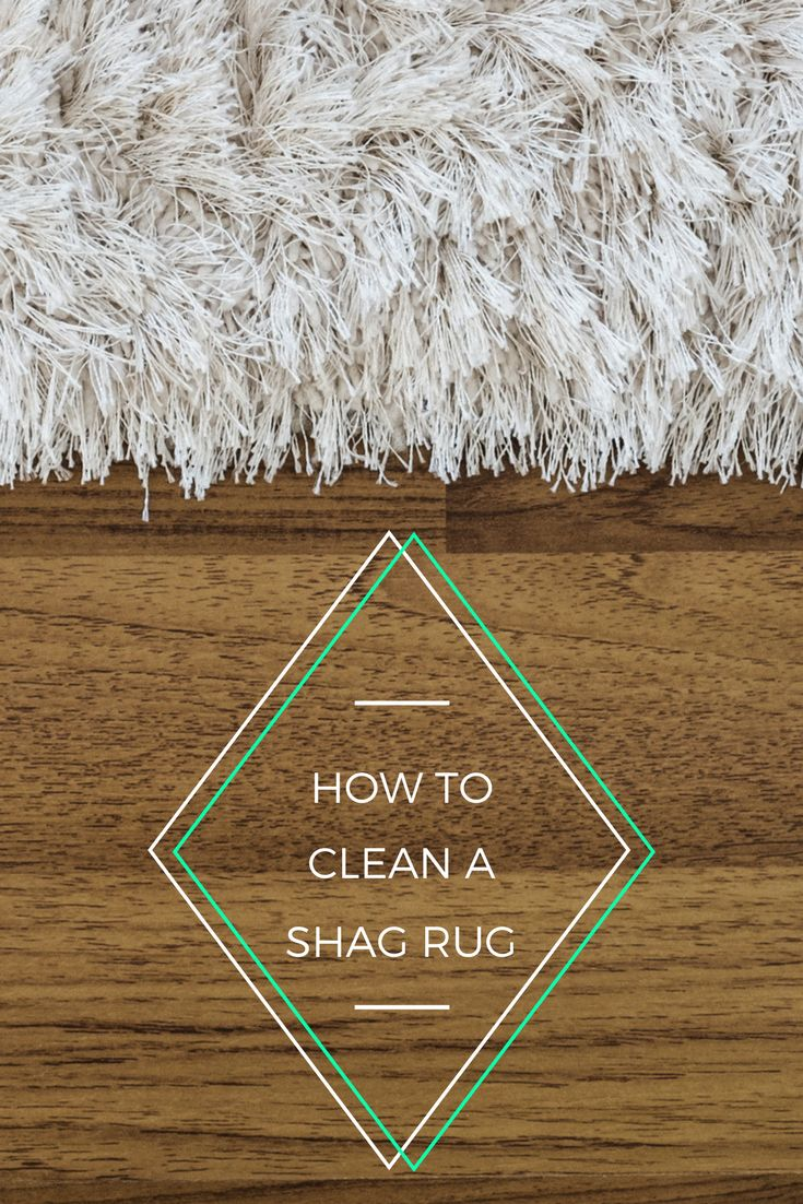 Shag rugs are one of the hardest things to clean. Here's how to do it.