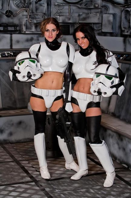 Stormtroopers...who needs droids!  love to join you girls... anytime or place
