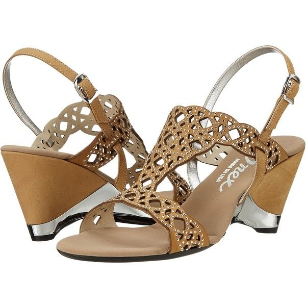 Onex Lacy (Tan Leather) High Heels (6.720 RUB) ❤ liked on Polyvore featuring shoes, sandals, lace-up sandals, onex sandals, synthetic shoes, onex shoes and high heeled footwear