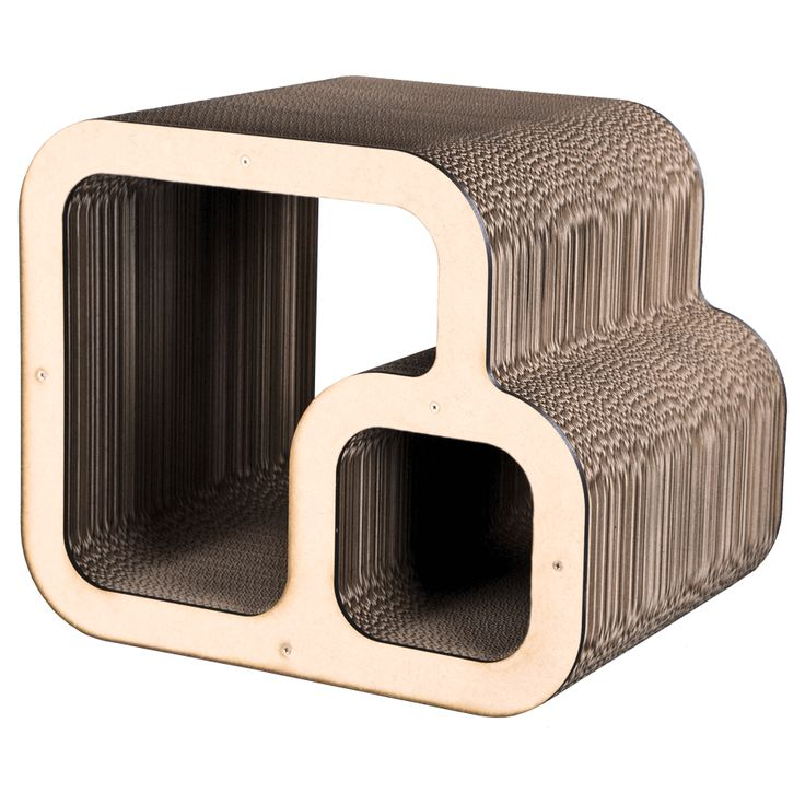 KittiCraft™ | Dual Cube Scratcher - Contemporary Cat Scratch Furniture | KittiCraft™