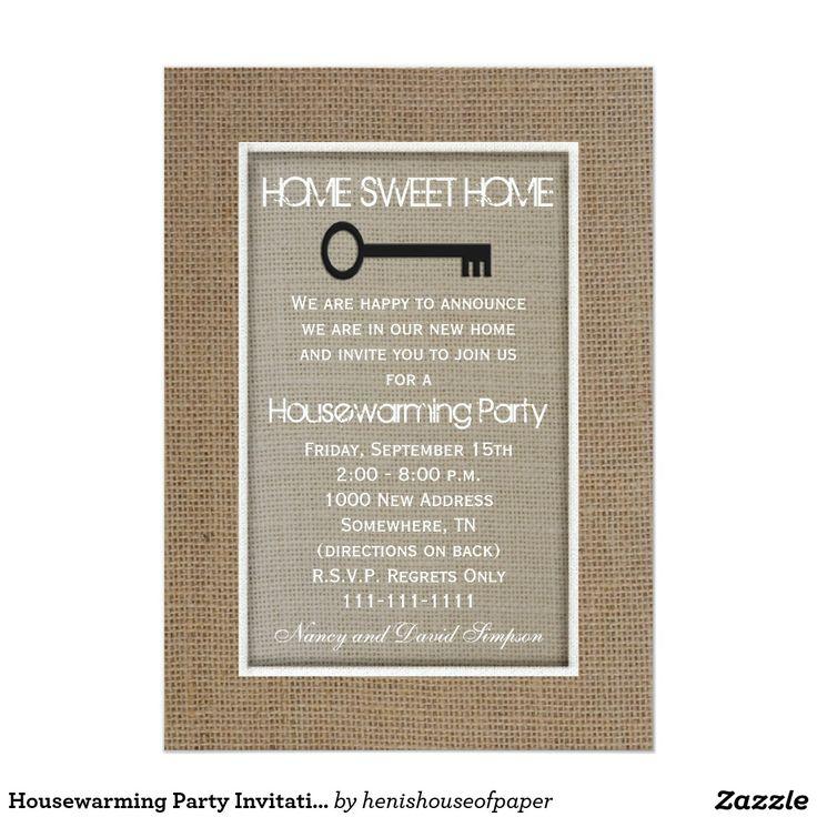 die besten 25+ housewarming party einladungen ideen auf pinterest, Einladung