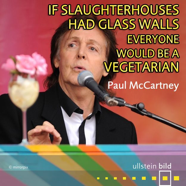 """""""If slaughterhouses had glass walls, everyone would be a vegetarian."""" #OTD in 1997, #PaulMcCartney, a former member of the most successful rock band in history #TheBeatles was knighted by Queen Elizabeth II for his services to music."""