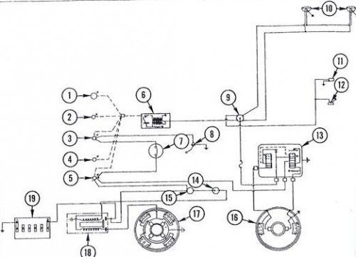 Massey Ferguson 135 Tractor wiring diagram diesel system | tractors | Pinterest | Tractors and