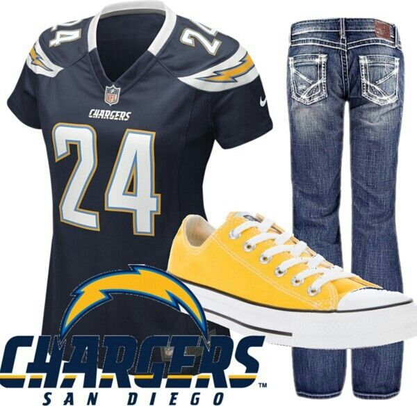 San Diego Chargers ~ outfit - yellow chucks