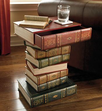 Table of Books - jcpenney LOVE THIS! $160 If I have have the opportunity/money to fix up the man cave for Jordan I would love to make it into a sophisticated study/parlor room for him.