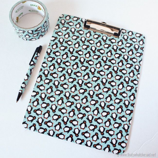 Duck Tape® Clipboards. Great idea to make over those ugly cheap clipboards