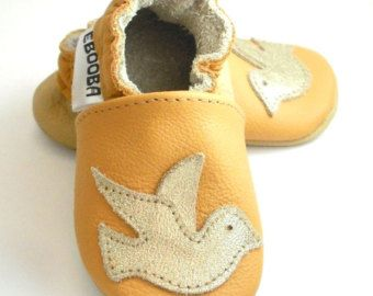 soft sole baby shoes infant handmade boy gift kidsbird golden yellow 0 6 bebes garcon fille cuir souple chaussons chaussures ebooba BR-4-Y-T