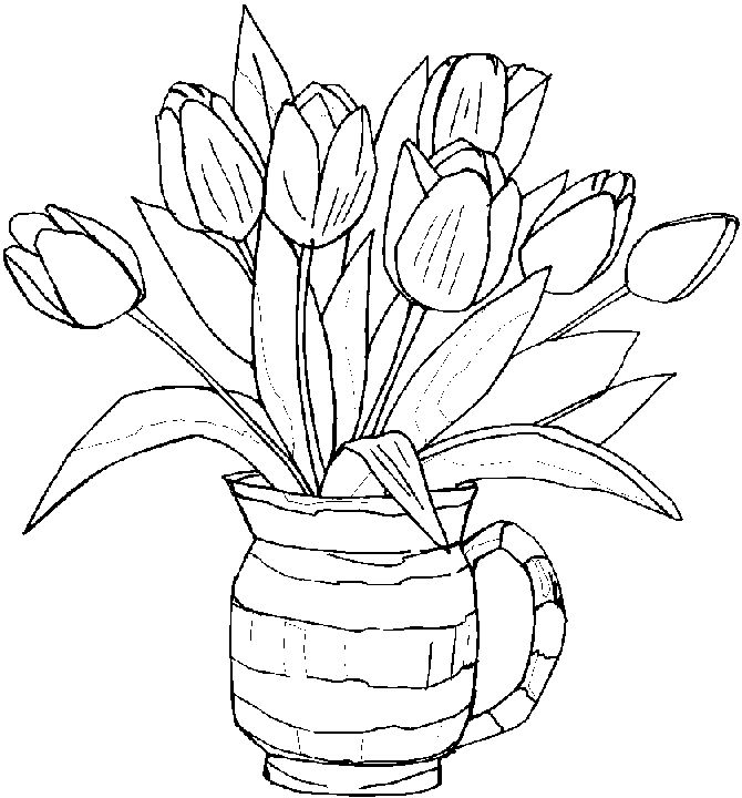 Spring Flower Coloring Pages For Kids Another Picture And Gallery About Printable Free Sprin