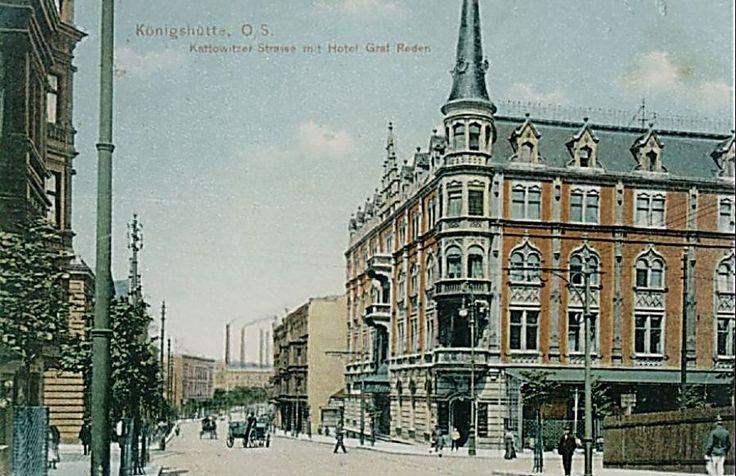 Teatr Rozrywki (Hotel Graf Reden), Chorzów - 1908 rok, stare zdjęcia