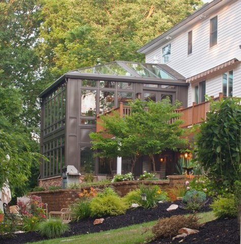 1000 images about deck and sunroom on pinterest deck for Two story sunroom