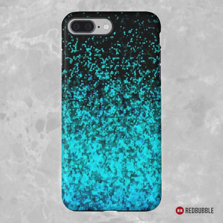 """SOLD iPhone 7 Plus """"Glitter Dust Background"""" https://www.redbubble.com/people/medusa81/works/11304948-glitter-dust-background?asc=u #redbubble #case #cases #iphone7plus #smartphone #electronic #accessories #background #abstract #glitter #dust #stardust #turquoise #black #sparkly"""