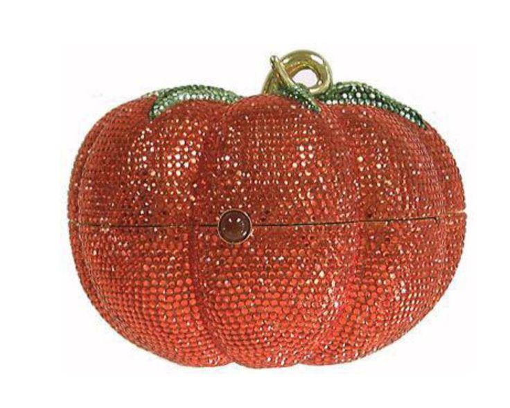 A Pumpkin Purse..Luv it  Judith Leiber Premium designer outlet online boutique at luxlu.com
