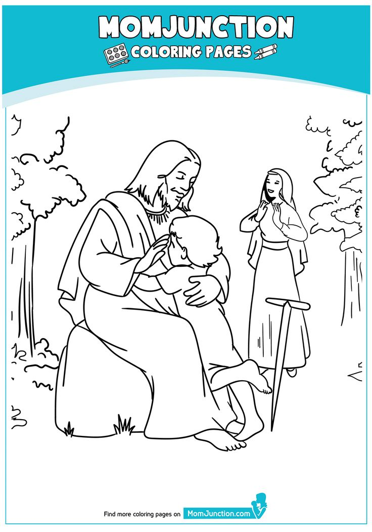 Coloring Page Mom junction, Childrens church lessons