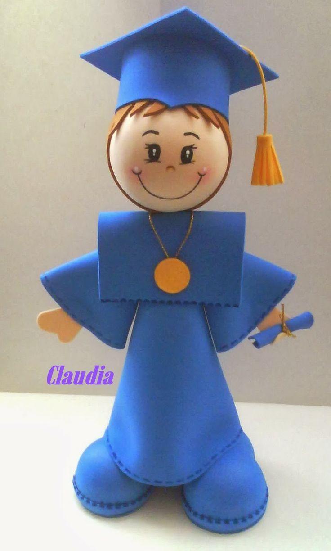 Fofucho graduado - trabajo de nuestra amiga Claudia http://manualidadesamigas.foroargentina.net/