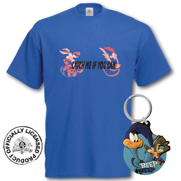 T-shirt Bip Bip et Vil Coyote + porte-clés