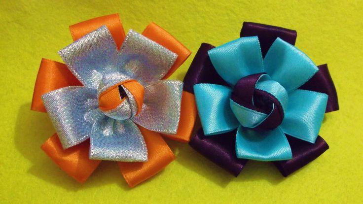 D.I.Y. Quick & Easy Satin Ribbon Flower - Tutorial