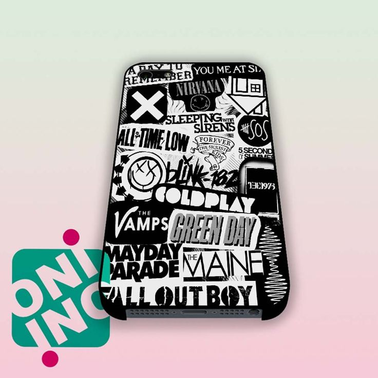 Rock Band Logo iPhone Case Cover | iPhone 4s | iPhone 5s | iPhone 5c | iPhone 6 | iPhone 6 Plus | Samsung Galaxy S3 | Samsung Galaxy S4 | Samsung Galaxy S5
