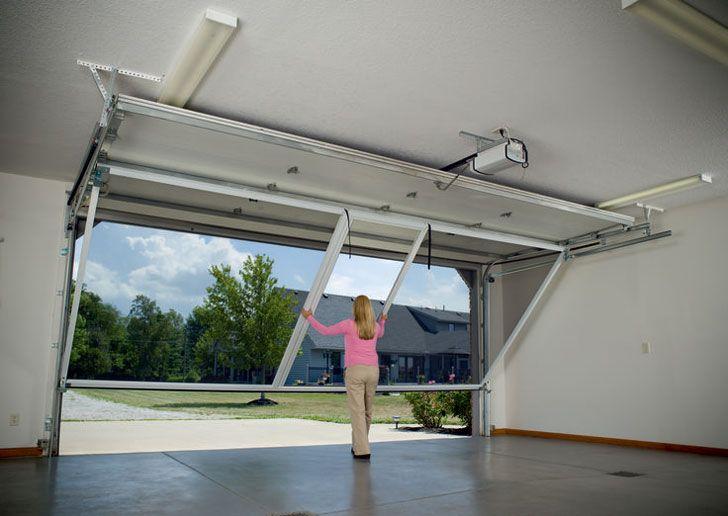 Garage Door Screens For The Man Cave Awesome Stuff 365 Garage House Garage Screen Door Roll Up Garage Door