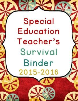 Special Education Binders are the key to organizing my life as an Intervention Specialist/Special Education Teacher.