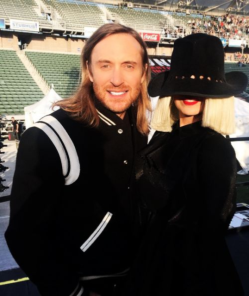 Sia's HAT FACE with DAVID GUETTA