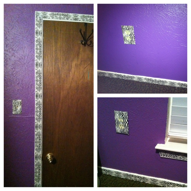 Wall Board Tape : Use decorative duct tape to add some print your