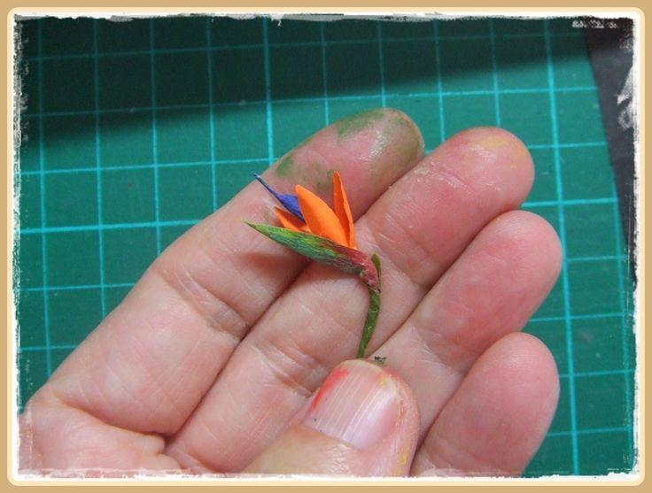 Miniatures | Bird of Paradise flower tutorial