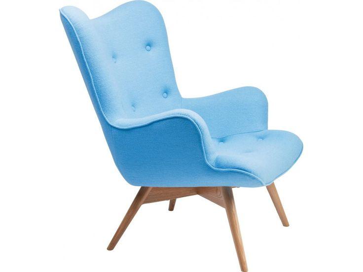 Fotel Angels Wings niebieski wełna — Fotele Kare Design — sfmeble.pl