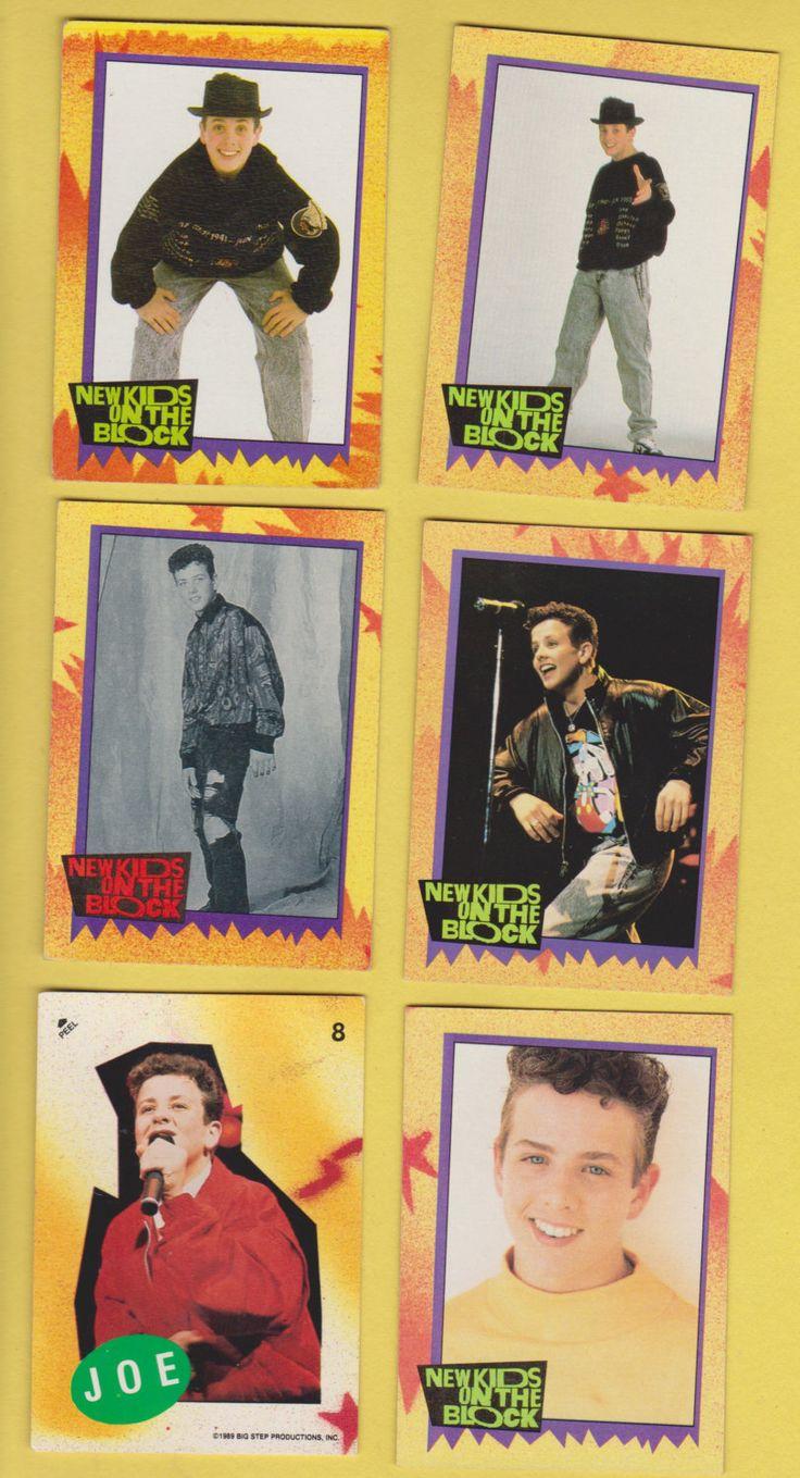 Lot of 6 Joe Joseph Joey McIntyre NKOTB New Kids On The Block trading cards Pub. 1989 by GrrlPickers on Etsy