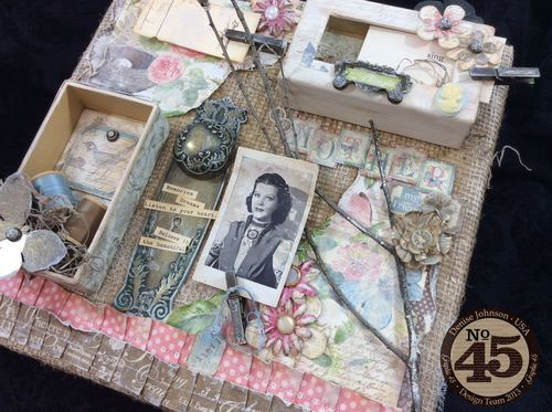 Beautiful Botanical Tea altered canvas from Denise Johnson! Click to see every single stunning element #graphic45