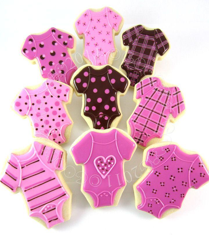 Pink onesies: Showers, Purple Baby Shower, Baby Shower Ideas, Baby Shower Favors, Baby Cookies, Girls Baby Shower, Baby Onesie Cookies, Baby Shower Cookies, Baby Shower