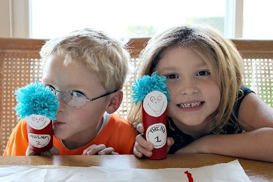 Multiples and More: Thing 1 and Thing 2 Craft