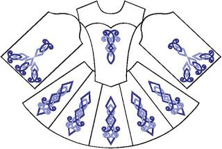 irish costume patterns | How to Make Your Own Irish Dance Costume – Earthly Delights: Music                                                                                                                                                                                 Plus