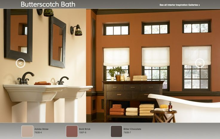 bath arts crafts inspired interior paint color palette from behr. Black Bedroom Furniture Sets. Home Design Ideas