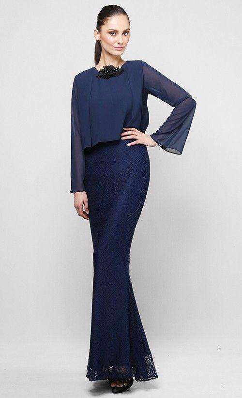 Daphne Kurung Set in Blue