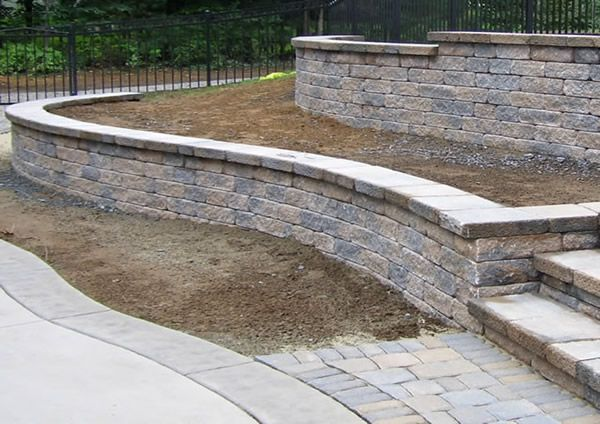 Backyard Retaining Wall Designs Classy Design Ideas