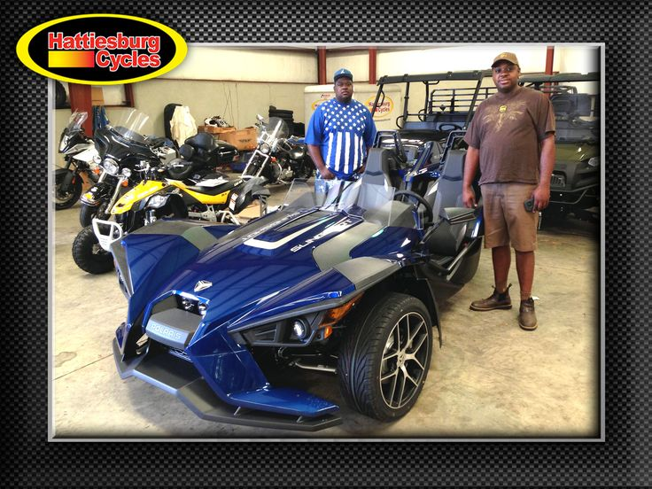 Thanks to Danny Smith and Deangelo Williams from McComb MS for getting a 2017 Polaris Slingshot SL @HattiesburgCycles #Polaris