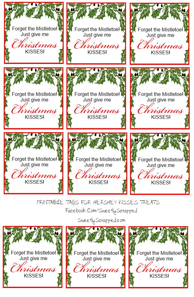 Free printable christmas kisses tags and bag toppers bag for Free hershey kisses labels template